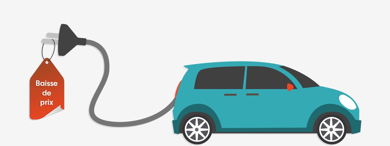 baisse de prix des voitures électriques